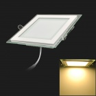 12W 980lm 3200K Warm White Light Square Ceiling Lamp w/ LED Power Supply (110~240V)