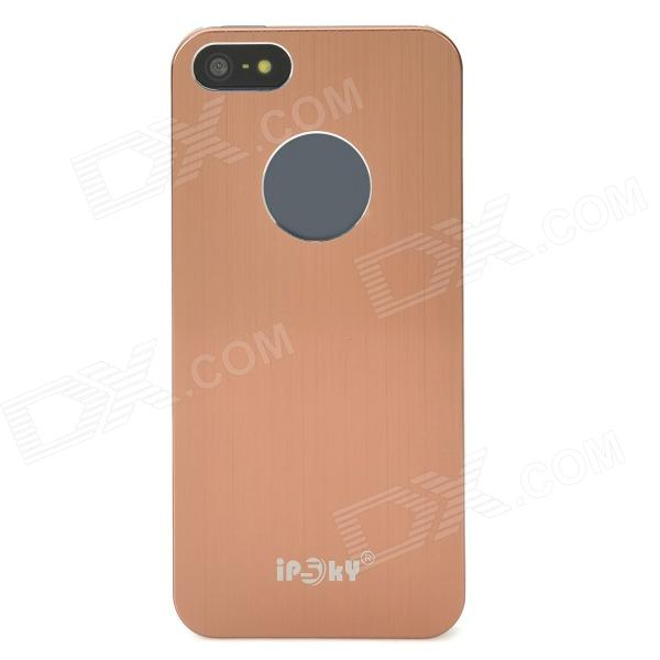 IPSKY Brushed Metal Protective Aluminum Alloy Back Case for Iphone 5 / 5s - Brown + Silver