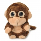 Cute Talking Nodding Monkey Style Electronic Plush + EVA Toy - Coffee + Flesh Color