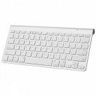 Wireless Bluetooth v3.0 78-Key Keyboard w/ Cell Phone Stand for Ipad - White