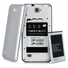 "SIV Android Smartphone 4,1 w / 5,7 ""capacitif + Dual SIM + double caméras + Wi-Fi - blanc + argent"