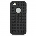 Protective Inner Silicone + Outer PC Dual Protection Hole Case for Iphone 5 - Black