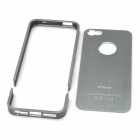 Detachable Protective Aluminum Alloy Back Case for iPhone 5 - Dark Silver