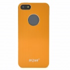 IPSKY Brushed Metal Protective Aluminum Alloy Back Case for Iphone 5 / 5s - Orange + Silver