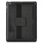 Handheld Protective PU Leather Case w/ Holder for The New Pad / Ipad 4 - Black