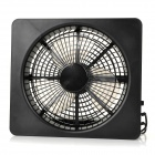 Mini Square Shaped USB Powered 2-Mode Cooling Fan - Black (4 x AA)
