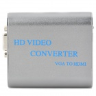 3.5mm Audio / VGA to HDMI High Definition Video Converter - Grey