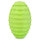 Grenade Style Pet Dog Grind Teeth Rubber Housing Ball Toy - Light Green
