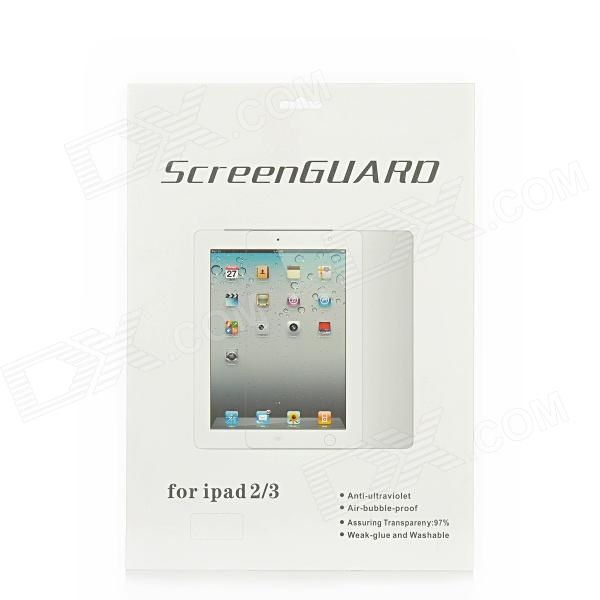 Protective HD Clear PET Screen Film w/ Cleaning Cloth for Ipad 2 / 3 / 4 - Transparent