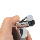 2000 Centigrade Windproof Blue Butane Jet Torch Lighter w / Keyring for Cigar - Silver + Dark Grey