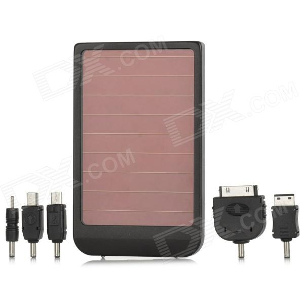 0.4W Rechargeable 2600mAh Solar Mobile Charger for Cell Phone / Digital Camera / MP3 / MP4 - Black