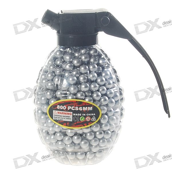 6mm BB Silver Plastic Bullets (800-Pack)