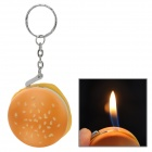 Kreative Hamburger Stil Butan Jet Feuerzeug w / Key Ring - Yellow