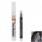 Car Tire Marker Decorative Pen - White (50g)