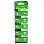 TianQiu Disposable 1.55V AG1/364A Alkaline Batteries (10 PCS)