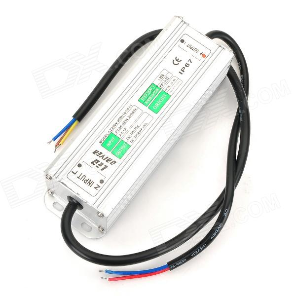 Water Resistance 80W External LED Power Supply Driver - Silver (85~265V)