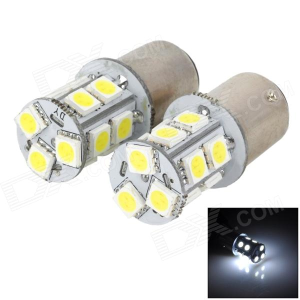 115750-13W 1157 2.3W 250lm 13-SMD 5050 LED White Car Steering / Brake / Tail / Backup Lights 115750 13w 1157 2 3w 250lm 13 smd 5050 led white car steering brake tail backup lights