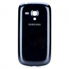 Genuine Replacement Plastic + Aluminum Alloy Back Case for Samsung I8190 - Deep Blue