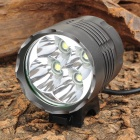 Cree XM-L T6 2950lm 3-Mode White Bicycle Light & Headlight - Grey (6 x 18650)