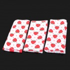 Strawberry Patterns Baby Infant Cotton Handkerchief Gebot Feeding Handtuch Schal - Weiß + Rot (3 PCS)