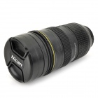 1: 1 Nican Lens Shaped Thermo Coffee Mug Cup - черный (450 мл)