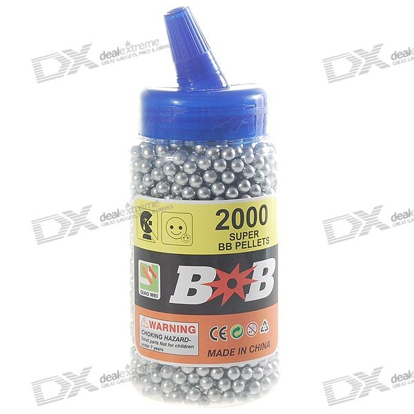 6mm BB Silver Plastic Bullets (2000-Pack)