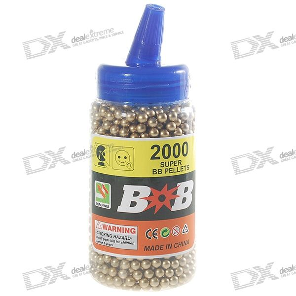 6mm BB Gold Plastic Bullets (2000-Pack)