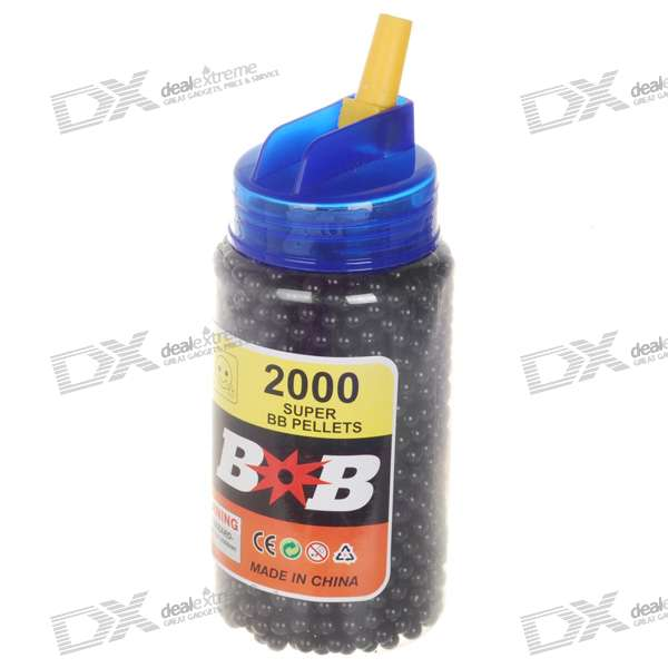 6mm BB Black Plastic Bullets (2000-Pack)