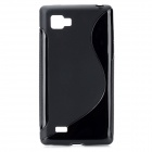 S-Line Style Protective TPU Soft Back Case for LG P880 Optimus 4X HD - Black