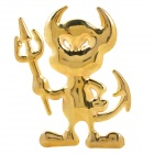 Little Devil Style Alloy Car Body Sticker w/ Self-Adhesive Tape - Golden
