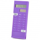 "Ultra-Thin 1,6 ""LCD Solar Powered Buch Clip Calculator - Purple"