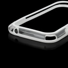 Protective Bumper Frame for Samsung i9082 - White + Transparent