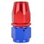 Straight AN10 Car Quick-Installation Aluminum Alloy Oil Tube Connector - Red + Blue