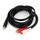 YYW Q423A-1.8M 3.5mm Male to 2-RCA Male Component cable - Black + Red + White (180cm)