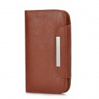 KALAIDENG Protective PU Leather Flip-Open Case w/ Card Slot + Strap for Samsung i9082 - Brown