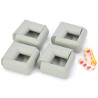 Bebé Kid Soft Foam Tabla Edge Corner Cushion Guardia de Seguridad EVA w / Adhesive Tape - Gris (8 PCS)