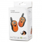 "T-2101 0.8 ""LCD de 22-CH Mini Kids / Walkie Talkies Parejas - Naranja + Negro"