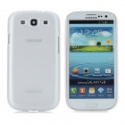 BASEUS Protective Plastic Case w/ Screen Protector / Stylus for Samsung i9300 / i9308 - White