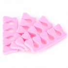 Soft Sponge Foam Finger Toe Separator - Pink (10 PCS)