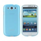 BASEUS Protective Plastic Case w/ Screen Protector / Stylus for Samsung i9300 / i9308 - Blue