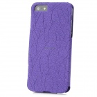 Memo Protective Flip-Open PU Leather Case for iPhone 5 - Purple