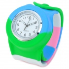 Silicone Band Analog + Digital Quartz Wrist Watch for Children - Multicolored (1 x AG4)