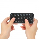 KP-810-16V Rechargeable R.F 2.4GHz Wireless Voice Remote 81-Key QWERTY Keyboard Air Mouse - Black