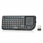 RII RT-MWK01 2.4GHz Wireless 72-Key Keyboard w/ Laser Pointer / Air Mouse / Touch Pad - Black
