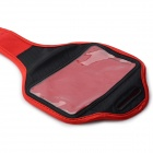 Stylish Sports Gym Arm Band Case w/ Magic Tape for Samsung Galaxy S4 / i9500 - Red + Black