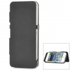 Rechargeable 2800mAh Flip-Open Case External Power Bank Battery for iPhone 5 - Black