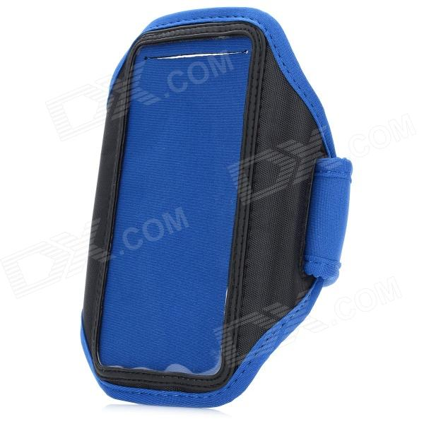 купить Stylish Sports Gym Arm Band Case w/ Magic Tape for Samsung Galaxy S4 / i9500 - Blue + Black недорого