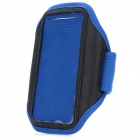 Stylish Sports Gym Arm Band Case w/ Magic Tape for Samsung Galaxy S4 / i9500 - Blue + Black