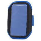 Élégant étui Arm Band Sport Gym w / Magic Tape pour Samsung Galaxy S4 / i9500 - Bleu + Noir