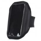 Stylish Sports Gym Arm Band Case w/ Magic Tape for Samsung Galaxy S4 / i9500 - Black